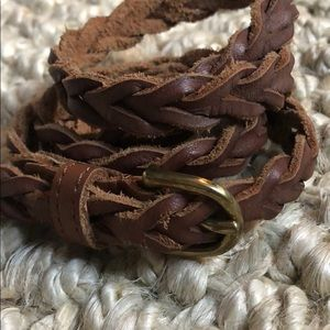 Brown braided belt (s)